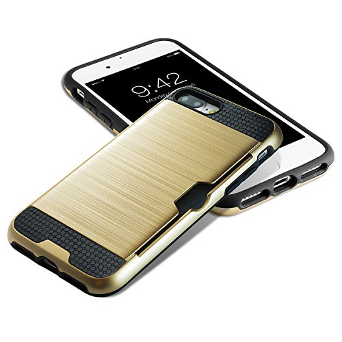 iPhone 7 Plus Cover technext020 Paraurti duro, Slim carta di credito coperchio Argento Oro