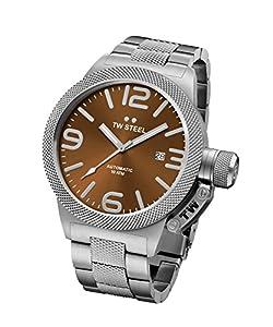 Tw Steel CB25 - Reloj de pulsera para hombre, marrón / plata de Tw Steel