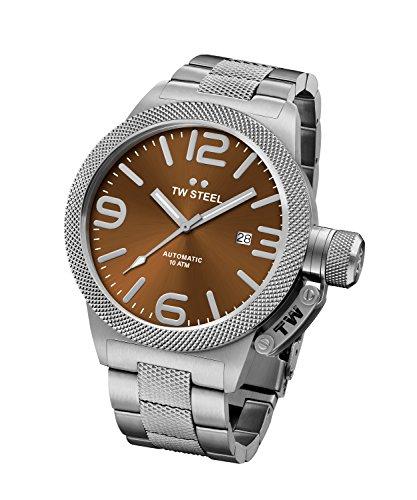 Tw Steel Unisex Datum klassisch Quarz Uhr mit Edelstahl Armband CB25
