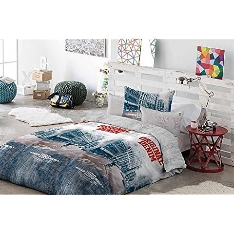 Antilo.- Funda nordica Gary para cama de 90 cm + funda de cojin 60x60 cm