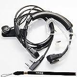 PRO Flexible Funkgeräte Headset Mit Kehlkopfmikrofon Ohrhörer Kopfhörer für 2-pin Kenwood Nexedge HYT Puxing Wouxun