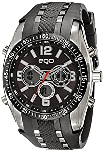 Ego by Maxima Analog-Digital Black Dial Unisex Watch - E-33110PPAN