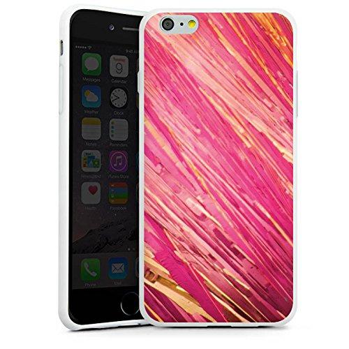 Apple iPhone X Silikon Hülle Case Schutzhülle Aquarell Kratzer Pink Silikon Case weiß