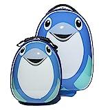HERGÉ 1x Kinder-Trolley und 1x Rucksack Pinguin Mumble - Handgepäck-Koffer mehrfarbig