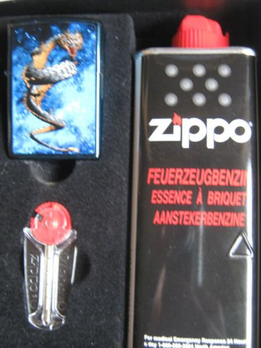 Zippo Mechero con diseño de dragón en space Set para regalo