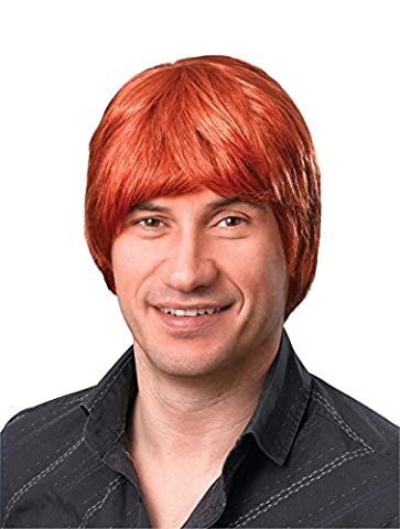 Short Ginger Brown Male Wig Austin Powers 70S Disco Metro Sexual Fancy Dress (Brown Ingwer)