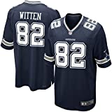 82 Jason Witten Trikot Dallas Cowboys Jersey American Football Shirt Mens Blue Size XXXL(56)