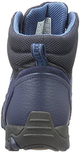 Allrounder by Mephisto Damen Nigata-Tex Rubber 1/C.Suede 97 Kurzschaft Stiefel Blau (BLACK/INDACO)