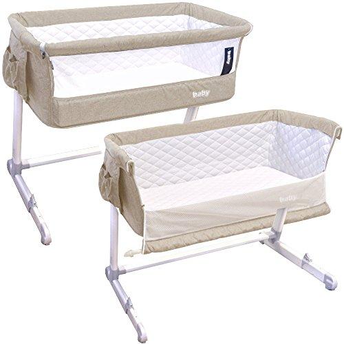 Baby Beistellbett Babybett Wiege Stubenwagen Höhe und Neigung einstellbar Lux-Bed