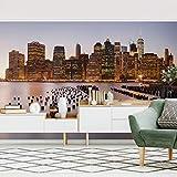 Fototapete selbstklebend - Blick auf Manhattan Skyline - Wandbild 255 x 384 cm