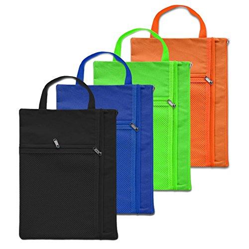 Aspire 4Reißverschluss Datei Taschen A4, Leinwand Werkzeug Tasche Tasche, 3Fächer, Verschiedene (Aspire Mesh)