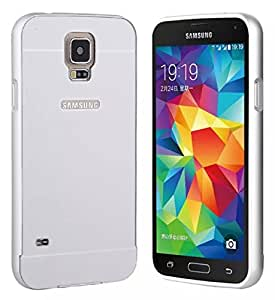 Kapa Acrylic Back + Metal Bumper Case Cover for Samsung Galaxy S5 - Silver