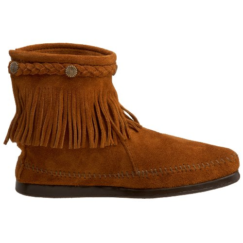 Minnetonka Hi Top Back Zip, Bottes Indiennes Mixte Adulte Marron
