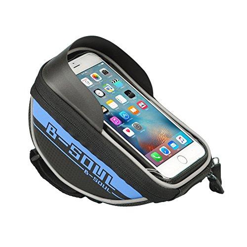 Cocohot Wasserdicht Touchscreen Fahrrad Taschen Handy Lagerung Tasche Blau