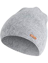 Filfeel Chapeau tricoté Femmes Beanie Caps Hiver Chapeaux Hommes Unisexe  tricoté Chapeau Chaud en Plein air Chapeau d hiver Imitation de… c7bdbda33db
