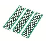 Sourcingmap-3pcs Double-Side Solderable prototipo Papel PCB universal Junta 2x 8cm