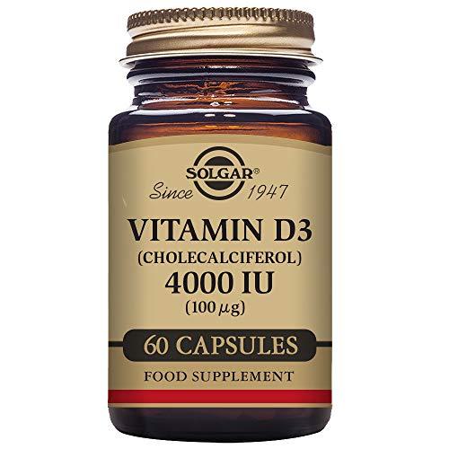 Solgar Vitamina D3 (Colecalciferol) 4000 UI (100 µg) Cápsulas vegetales - Envase de 60