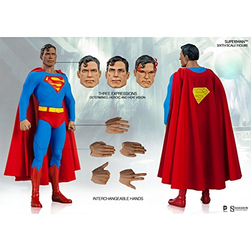 Coleccionables-Sideshow-1-6-Escala-de-Superman-DC-Comics-Figura