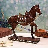 tobbrt Keramik Dekoration Fortune Horse Dekorationenharz Craftshome Einrichtungbüro-Tischplatte Anzeigen Pferde