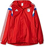 adidas Herren Regenjacke FC Bayern Rain Jacket, Fcb True Red/White, XL, F49518