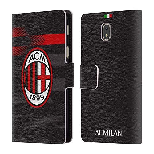 Head Case Designs Ufficiale AC Milan Terza Maglia 2018/19 Kit Cresta Cover in Pelle a Portafoglio Compatibile con Samsung Galaxy J5 (2017)