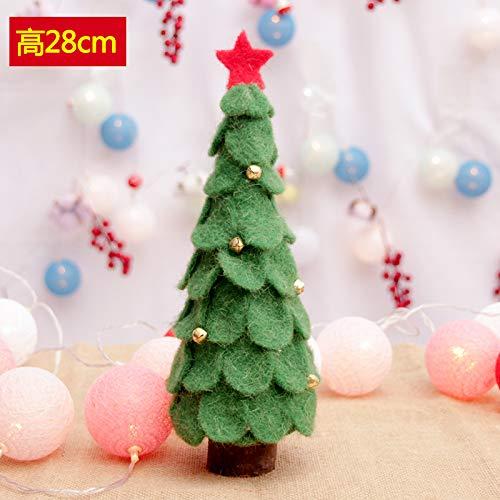 HAPPYLR decorationsins nordische Christbaumschmuck Mini Kleine Weihnachtsbaum Anordnung von Weihnachtsschmuck, D-Absatz 28cm grünen Baum - Künstliche Kleiner Adventskranz