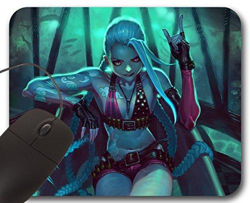 Jinx Fanart Skin ( A ) Mousepad LOL - League of Legends Alfombrilla de Ratón