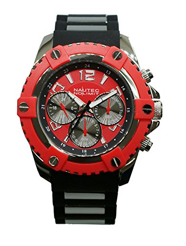 Nautec No Limit GLAC2-QZ-RBST-RD Glacier 2 Men's Analogue Watch Rubber Quartz