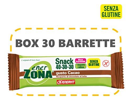 Enerzona snack 40-30-30 gluten free box da 30x27 g. gusto cacao