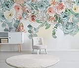 HONGYUANZHANG Moderner Minimalistischer Blumenschmetterling Tapete Des Foto-3D Künstlerische Landschafts-Fernsehhintergrund-Tapete,104Inch (H) X 136Inch (W)