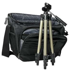 Aktions-Set Miami XL Sac pour appareil photo+ trépied de voyage ultra-léger Noir/gris