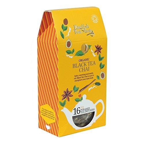 English Tea Shop - Black Tea Chai - 16 Pyramid Tea Infusers - 32g (Case of 6)