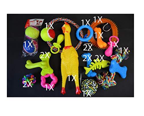 20tlg Hundespielzeug Set Hundebälle Knotenseil
