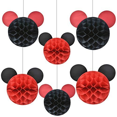 LUCK COLLECTION Micky Maus Partyzubehör Micky Maus Wabenbälle für Party-Dekorationen