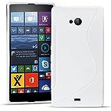 Conie Rückschale für Microsoft Lumia 535 - Silikon Schutzhülle im S-Line Design Hülle aus TPU, Kratzfest Kantenschutz, Lumia 535 Handyschale