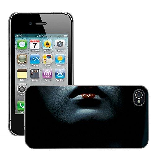 Premium Slim Polycarbonate Aluminium Cassa del telefono Custodia Case Bandiera Cover Armor // M00047999 lips geisha aero black // Apple iPhone 4 4S - Aero Lip