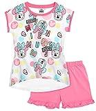 Minnie Mouse Pyjama Kollektion 2018 Shortie 98 104 110 116 122 128 134 140 Schlafanzug Kurz Shorty (Weiß-Rosa, 128)