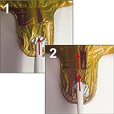PartyMarty Ballon Zahl 50 in Gold - XXL Riesenzahl 100cm - zum 50. Geburtstag - Party Geschenk Dekoration Folienballon Luftballon Happy Birthday GmbH® - 2
