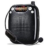SHIDU SD de S611UHF Amplificador de voz (10W) con 2600mAh batería de litio con el micrófono inalámbrico para profesores/Trainer/guía de viajes y más negro Schwarz/UHF-10W