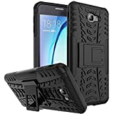 [Sponsored]Cases And Cover Back Cover For Samsung J7 PRIME / ON NXT Designed Kick Stand Hard Dual Rugged Armor Hybrid Bumper Back Case Cover For Samsung Galaxy J7 Prime /Onnext - Black