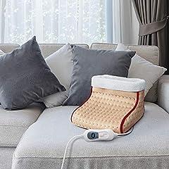Idea Regalo - Cozy Scaldapiedi termico elettrico con 3 Potenze scalda piedi con telecomando display e timer
