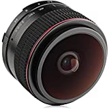 Opteka 6.5mm F/2 HD MC Manual Focus Fisheye Lens For Canon EF-M Mount APS-C Digital Cameras