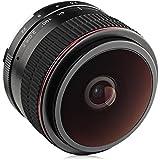 Opteka 6.5mm F/2 HD MC Manual Focus Fisheye Lens For Nikon 1 Mount CX Format Digital Cameras