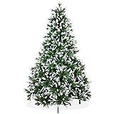 Künstlicher Weihnachtsbaum 240cm in Premium Spritzguss Qualität, angeschneite Nordmanntanne, Tannenbaum mit PE Kunststoff Nadeln, Nordmannstanne Christbaum im beschneit Design
