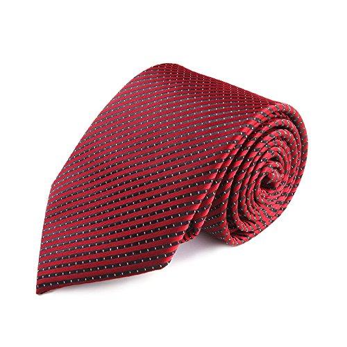 YAOSHI-Bow tie/tie Krawatten und Fliegen für Männer Krawatte Rote Krawatte Seide Polyester Mischung Weave Stripe mit Geschenkbox Krawatten und Fliegen für Stripe Bow Tie