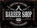 Barber Shop Style Vintage Publicité Enseigne, 30x40cm Métal Plaque Mural