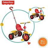 Fisher Price Smart Trike 2 in 1 Stroll To Ride Trike - Red & Yellow NO CANOPY