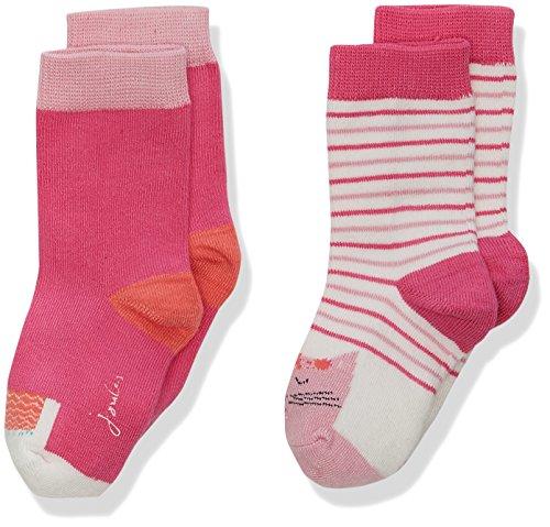 (Tom Joule Joules Baby-Mädchen Socken Neat feet, 2er Pack, Multicoloured (Llama), 6-12 Monate)
