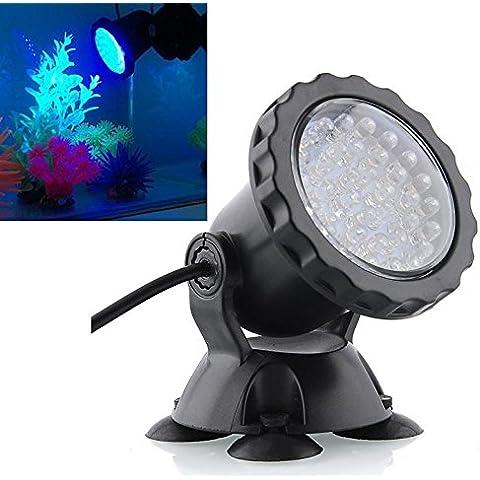 El agua sumergible Mingdak® LED luz lámpara de paisaje para peces de acuario de la charca de la fuente del jardín del tanque, 36 ledes, 3 colores de iluminación cambiante, Set of