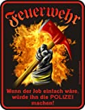 Fun Schild - Schild: Feuerwehr Polizei